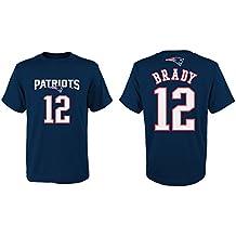 "'Tom Brady Youth Niños New England Patriots ""Main Liner Player–Camiseta, extra-large"