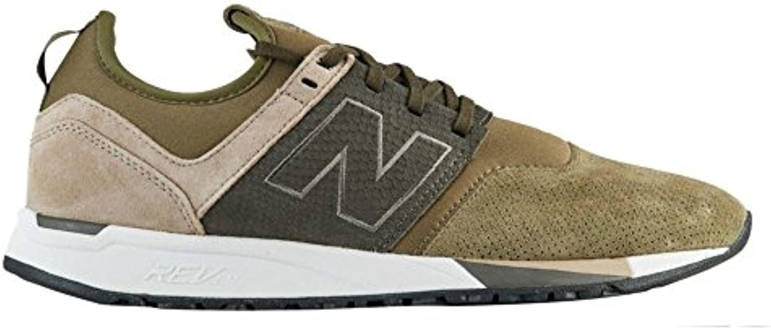 New Balance 247 Olive Suede Trainers
