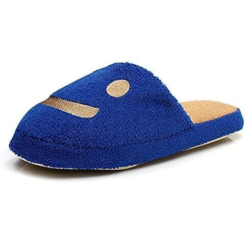 MIOIM® Zapatillas Suave Caliente Del Invierno Zapatillas Felpa Sonrisa Zapatillas De Estar Por Casa Zapatillas de Interior Hombre /