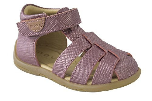 MOVE Geschlossene Sandale Lauflerner Mädchen, Chaussures Marche Bébé Fille Pink (Red Sorbet)
