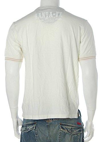 Signum Herren Kurzarm Shirt T-Shirt Rundhals Santa Fe West Trail Off White