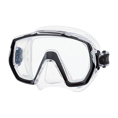 TUSA Sport Tusa Freedom Elite - tauchmaske schnorchelmaske erwachsene profi M-1003 - schwarz silikon transparent