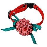 KDSANSO Weich und bequem Hundehalsband mit Niedlichen Blumen Verstellbare Größen PU-Material Sicherheit und Komfort für Haustiere # 5 22-36cm