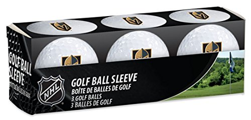Wincraft NHL Las Vegas Golden Knights Golf Ball Ärmel, 3Einzelne Stück Golf Bälle