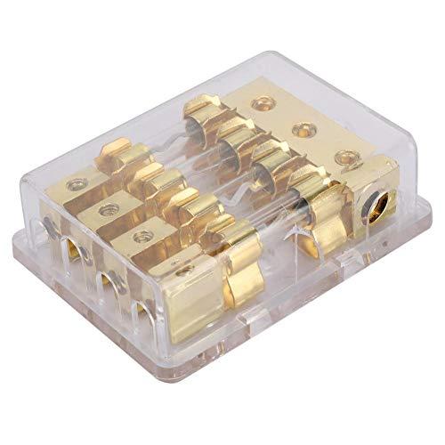 Bloque de caja portafusibles de cuchilla en el circuito de audio estéreo automático Para automóviles...
