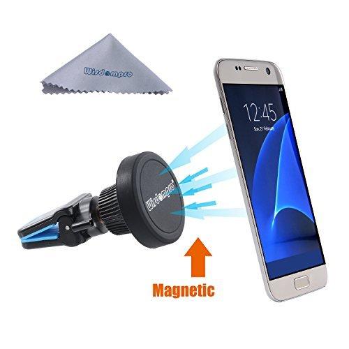 mpro Drehbar Magnetische Universal Air Vent Handy Halterung für iPhone 6S Plus 6S 5S 5C SE, Samsung Galaxy S7S6, S5, Note 543, und Andere Smartphones, GPS, Blau ()