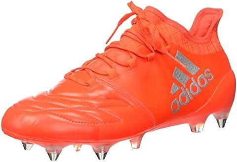 Adidas Herren X 16.1 Sg Leather Fußballschuhe, Orange (Solar Red/Silver