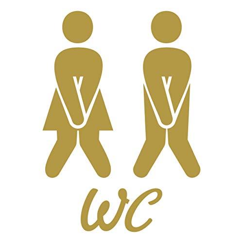 WC Aufkleber Türaufkleber Badezimmer Toiletten Wandtattoo