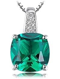 jewelrypalace 4.78CT Halskette Anhänger Damen in Saphir von synthetischen Synthese/Rubin/Nano Russische Wallet Smaragd mit eine Kette aus 925Sterling Silber 45cm