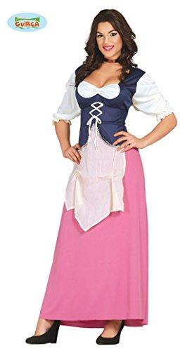 Wirtin Kostüm - sexy Wirtin Mittelalter Kostüm für Damen Gr. M/L, Größe:L