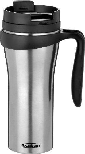 Trudeau Travel Mug (Trudeau Paige 16-Ounce Stainless Steel Travel Mug, Metallic by Trudeau)