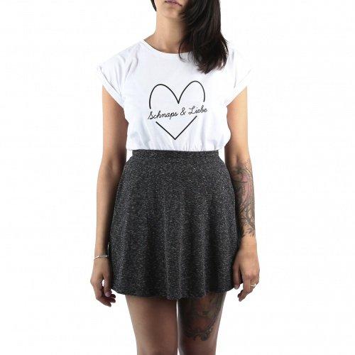 THEGOODVIBES Schnaps & Liebe Shirt Frauen Weiß Größe XL