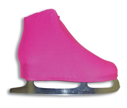 A&R Sports Lycra Ice Skate Boot Covers, Neon Pink