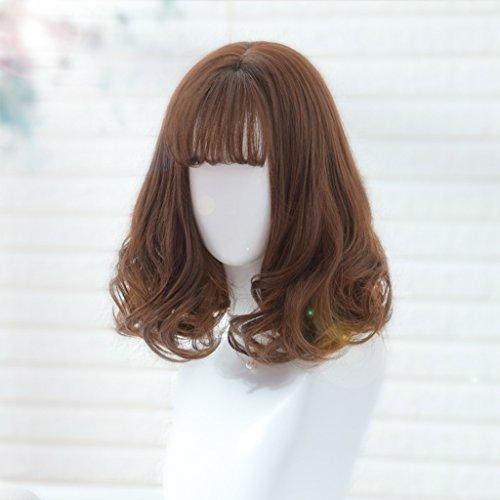 Chang Xiang Ya Shop Perruques bouclés Cheveux Courts Fluffy Perruques réalistes Perruque Pleine Brune