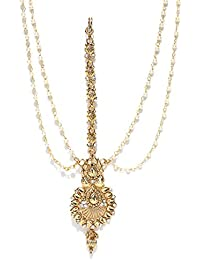 Zaveri Pearls Ethnic Gold-Toned Maangtikka For Women-ZPFK6669