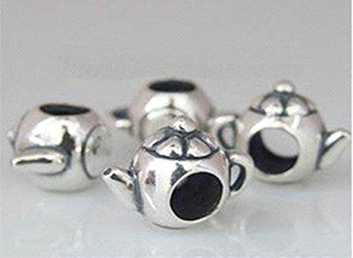 Kaffeekanne - Damen Bead - für Pandora Schmuck - 925 Sterling Silber
