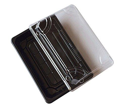 Set von 50 Einweg-Sushi-Tablett Sashimi-Box mit Deckel [Schwarz]