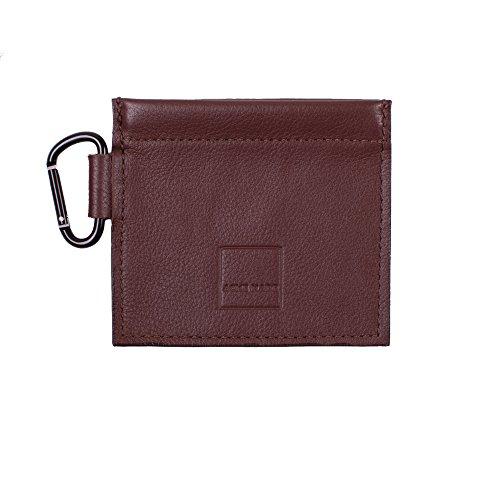 Acme Made Mini Spring-Top Tasche Braun aus Echtem Leder am11621