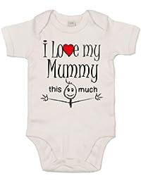 IiE, I love my Mummy this much, Baby Unisex Boy Girl, Bodysuit