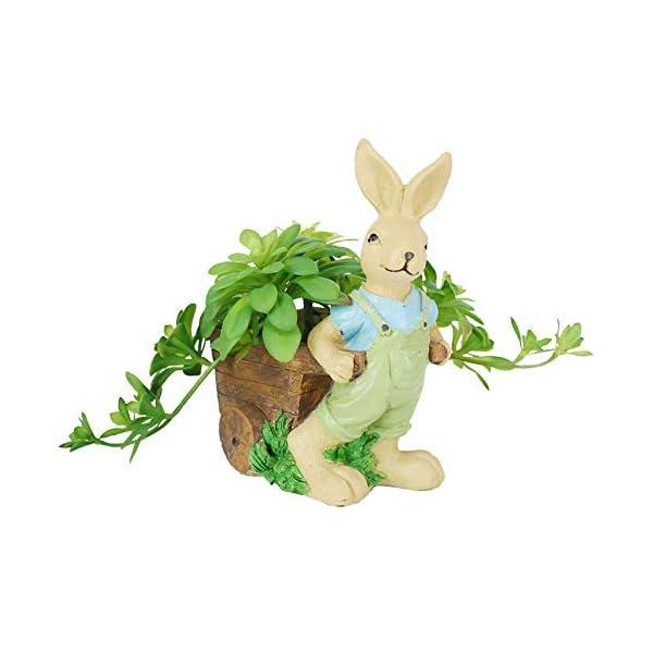 YK DECORATE Macetas de cerámica Creativa simulación suculentas Plantas en Maceta Familia y Oficina Decorada,E
