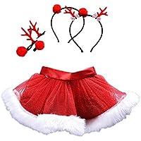 VICGREY ❤ 2 PCS Natale Costume Bambino Neonato Ragazza Gonne Tutu di Natale  Fantasia Festa Gonna 80231423b4ec