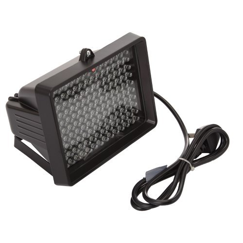 Hilai IR Infrarot 140LED Illuminator Licht Night Vision mit Adapter 850NM für CCTV Kamera (Schwarz Drei) (Landschaft Vision Beleuchtung)