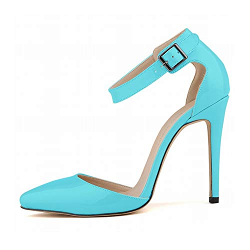 EARIAL& 2018 Summer Fashion Sandals Shoes for Woman Stilettos Ankle Strap Pointed Toe High Heels 11cm Sexy Party Sandals Shoes A021 3 8.5