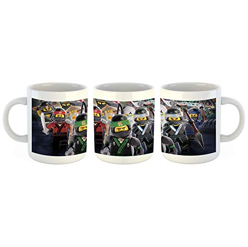 Unified Distribution Lego - Ninjago - Ninja Warriors - Tasse mit Motiv Bedruckt, 300ml C-Henkel. Tolles Geschenk für Büro, Küche, Geburtstag, Lieblingstasse zum Frühstück
