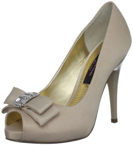 Nina Bridal - Zapatos de boda de satén mujer, color beige (powered sand), talla 38.5 EU (6.5 UK)