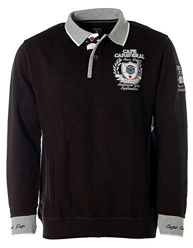 Kitaro Herren Sweatshirt Polo Pullover -Cape Canaveral Air Force Station- Schwarz L Air Force-sweatshirt