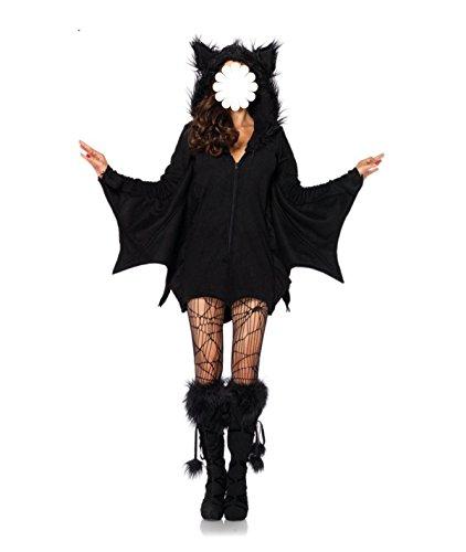 GEXING Halloween Cosplay Kleidung Europäische Und Amerikanische Weibliche Modelle Erwachsene Fledermäuse Vampir Kostüm (Erwachsene Kostüme Vampir Weibliche)