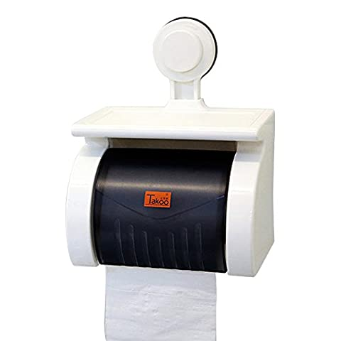 Woolala Toilet Paper Holder Plastic Waterproof Wall Mount Frame Tissue