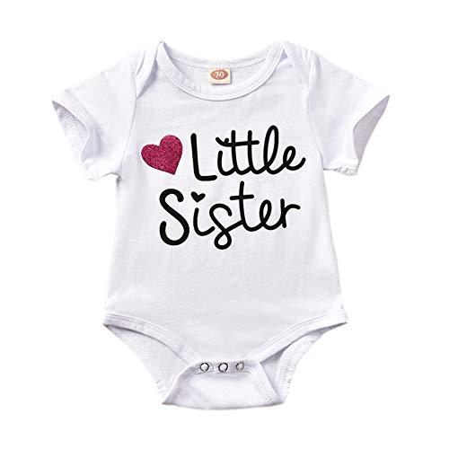 Loveablely Kleine Schwester Big Brother passende Strampler T-Shirt Bodysuit Outfit Kleidung - Schwester Große Passende Kleine Schwester