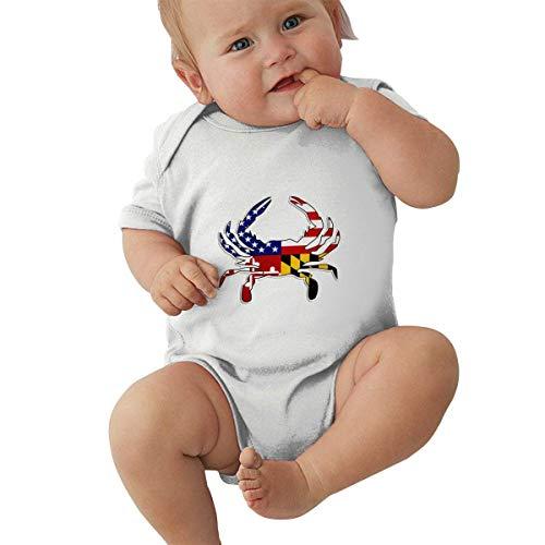 Babybekleidung Jungen Mädchen T-Shirts, USA Maryland Flag