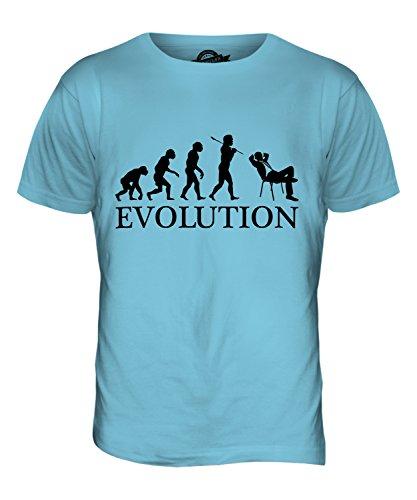 CandyMix Geschäftsmann Evolution Des Menschen Herren T Shirt Himmelblau
