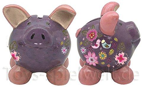 Swiggie Sparschwein Glücksschweinchen Turteltaube Spardose 8,5 cm 13 cm 15,5 cm: Größe: 08,5 cm
