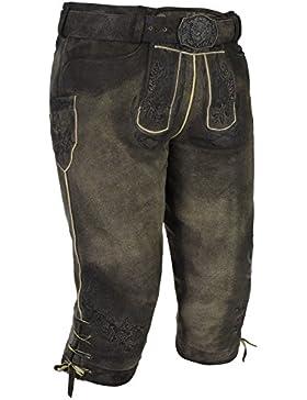 Michaelax-Fashion-Trade Spieth & Wensky - Herren Trachten Lederhose mit Gürtel, Edmar (270515-1060)