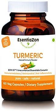 EsentiaZon Natural Turmeric Extract (Curcumin) 500mg - 60 Veg Capsules (BCM-95)