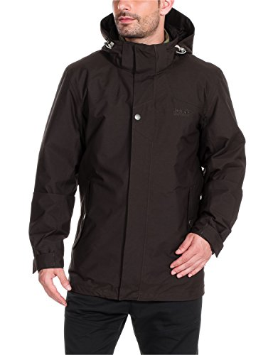 Jack Wolfskin Herren 3-in-1 Jacke Vernon Texapore Jacket, Ground, XXL, 1106711-5035006