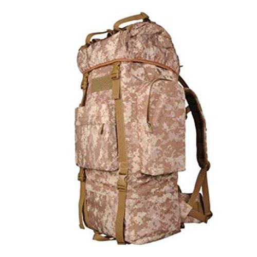 GOUQIN Zaino Outdoor Classico Moda Arrampicata Outdoor Spalle Package Escursionismo Campeggio Movimento Pacchetto Borsa Da Viaggio, Verde Il Deserto