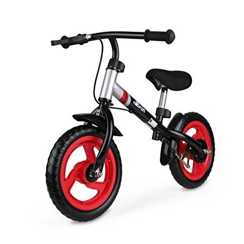 GOSFUN Draisienne Vélo Enfant avec Le Frein à Main sans Pédales Ecologique Apprentissage pour Garçons et Filles 2 à 5 Ans Capacité de 50kg,Rouge