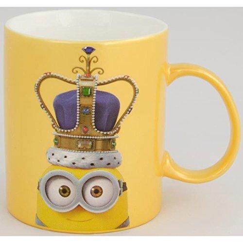 minions-0122154-tazza-da-caffe-king-bob-circa-300-ml-porcellana-bianco-giallo-metallizzato