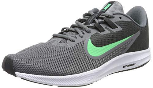 Nike Downshifter 9, Zapatillas de Running para Hombre, Gris (Cool Grey/Electro Green/Anthracite/Black/White 004), 42.5 EU