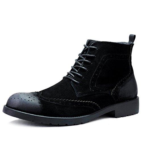 WZW Men es kausale retro hochgeschnittene Veloursleder Schuhe kurz/Martin Stiefel Black