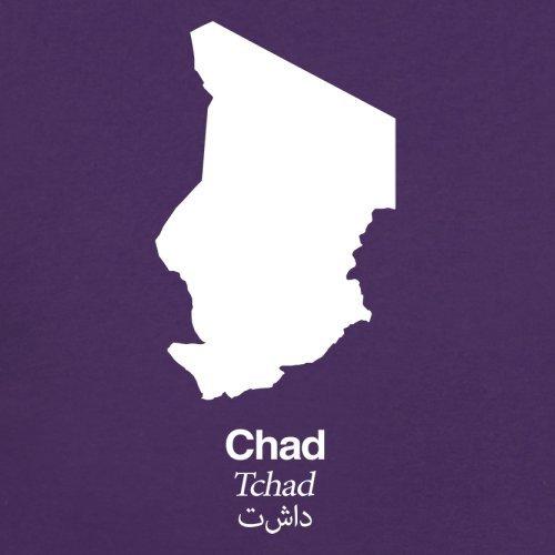 Chad / Tschad Silhouette - Herren T-Shirt - 13 Farben Lila