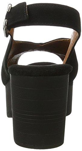 Shoe Biz Damen Sandal On Heel Slingback Schwarz (Suede Black) 19AZ3E