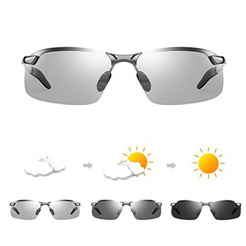 YIWU Brillen & Zubehör Farbwechselnde Sonnenbrillen Herren Tag und Nacht Fahrer Polarisierte Sonnenbrillen Nachtsicht Brillen (Color : 2)