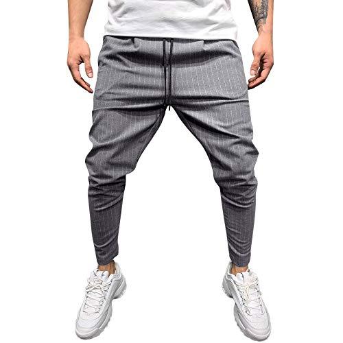 IMJONO Hosen 2019 Ausverkauf,Mode Männer Casual Feste Lose Streifen Tasche Sweatpant Hose Jogger ()