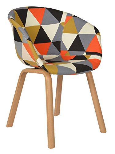 ts-ideen-1-x-Chaise-Patchwork-Tapisse-de-Toile-Multicolore-Fauteuil-Assise-Imitation-Bois-de-Htre-Hauteur-dAssise-44-cm