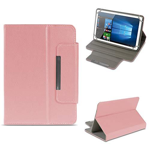 NAUC Odys Cosmo Win X9 Tablet Schutzhülle Tasche aus Kunst-Leder Hülle Standfunktion Cover Universal Case Magnetverschluss, Farben:Rosa